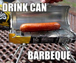 How To Make The Bitty-Q - (A Drink-Can BBQ) #Mikehacks   The King of Random via Instructables
