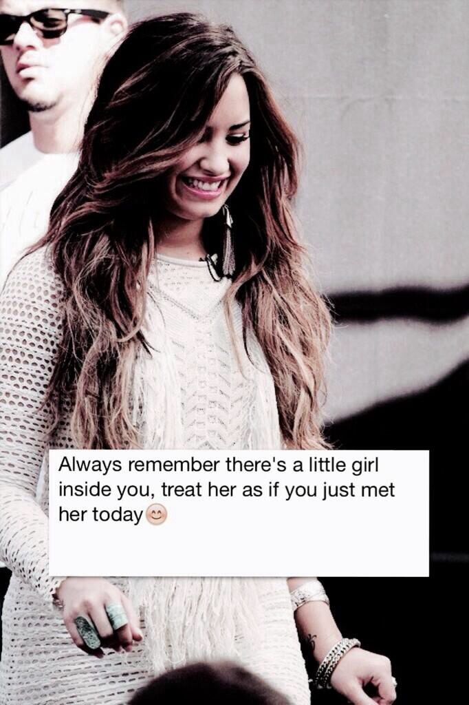 Demi Lovato ~ Quote she is such an inspiration to me, she's been judged by the whole world and she has the strength to stay strong!