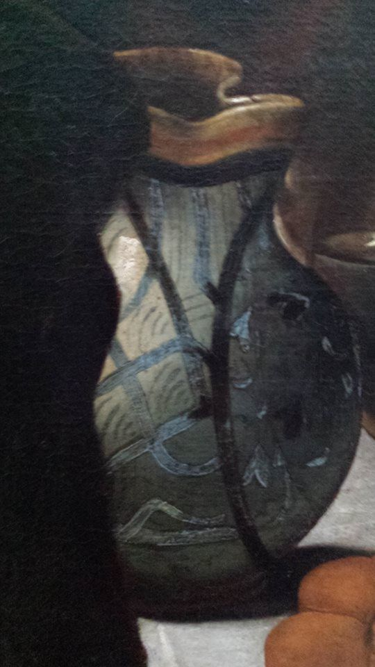Caravaggio, ''Cena in Emmaus'', particolare, olio su tela (139×195 cm) , 1601-1602 National Gallery, Londra
