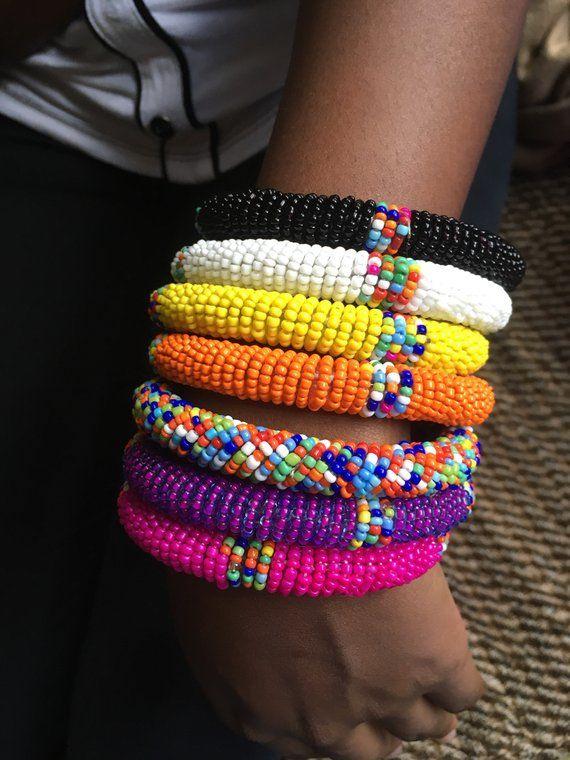 maasai beaded bracelet,gift for loved ones African bracelet. Assorted Wholesale African beaded bracelet