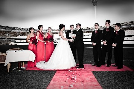 Unique Wedding Ceremony Venue - The Gabba Imagine getting married on the same surface where your sporting heroes play with your guest looking down from the Club's tiered seating!