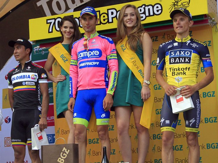 TOUR DE POLOGNE STAGE ONE GALLERY Ulissi beat Darwin Atapuma, left, into second, and Chris Anker Sorensen, right, into third