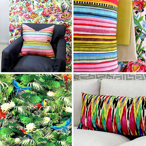 More colourful stock designs; including the print 'Flower Power', the tropical 'Rainforest' and the ikat 'Iznik'. See more... http://www.uniquefabrics.com/cycle-one