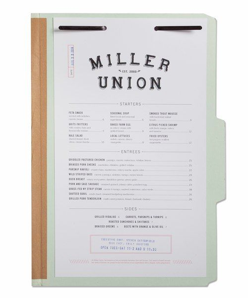 Brent Ellis' packaging and Identity for Miller Union #PortfolioCenter