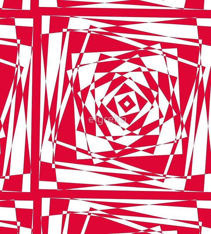 red abstract geomtric illusion