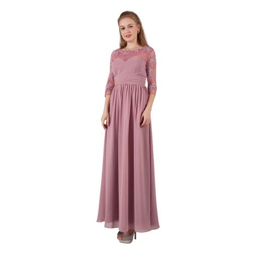 So hard to find a formal dress with sleeves. This one has generous sizing and goes to size 20. Other colours available.