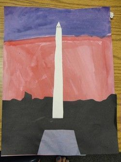 Washington Monument craft for American Symbols