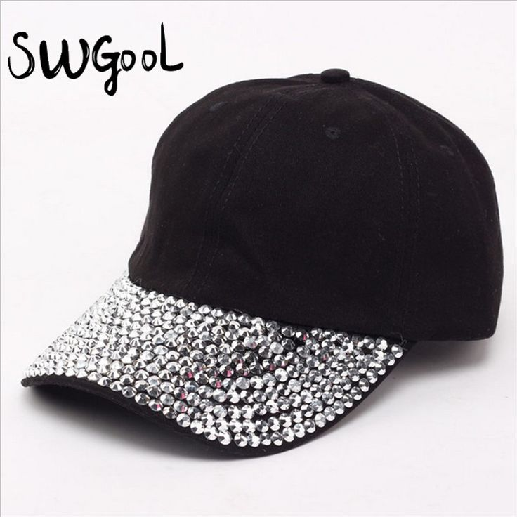 SWGOOL Baseball Caps 2016 New style Pure men and women sun hat rhinestone hat denim and cotton snapback cap hip-hop hat