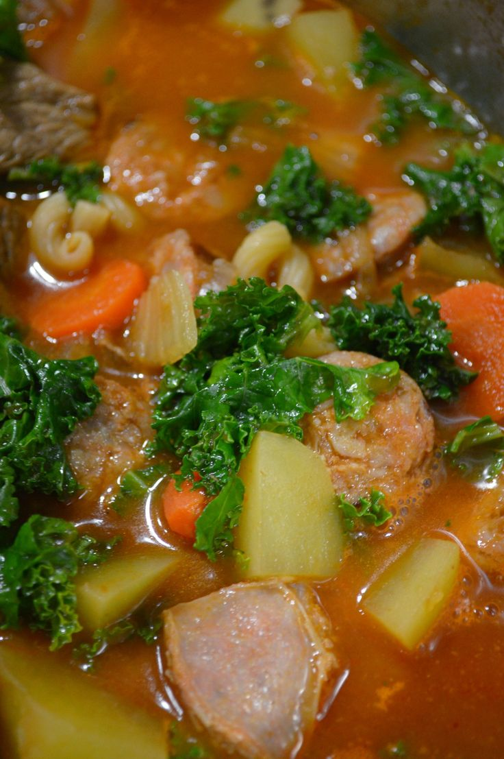Portuguese Chourico Stew  --- You must try this recipe -  I'm not a soup person but I love this one