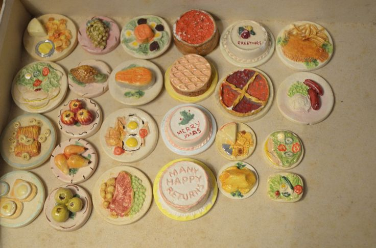 25 items of UNUSED OLD STOCK Vintage Kaybot Kay's Plaster Dolls food collection | eBay