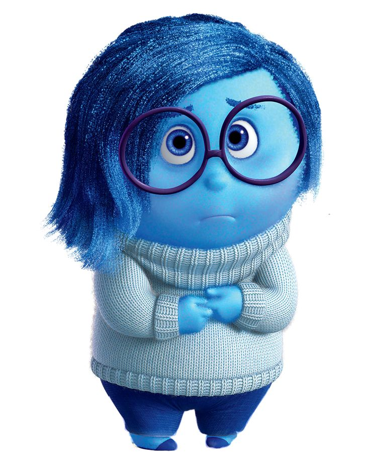 Sadness Background information Character information Sadness is the deuteragonist in the 2015 Disney/Pixar film Inside Out. She is one of the five emotions inside the mind of Riley Andersen.