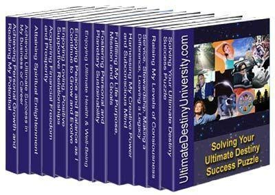 "The Ultimate Destiny Success System created and coauthored by Charles Betterton consists of 14 stand-alone programs to help you discover and manifest your ultimate destiny (whatever that means to you personally. These interactive how to guidebooks will  help you ""Solve Life's Ultimate Success Puzzles"" in every area of life including: Realizing Your Potential, Loving Relationships; Attaining Prosperity; Achieving Success; Attaining Enlightenment; Fulfilling Your Purpose;  Peace and Balance…"