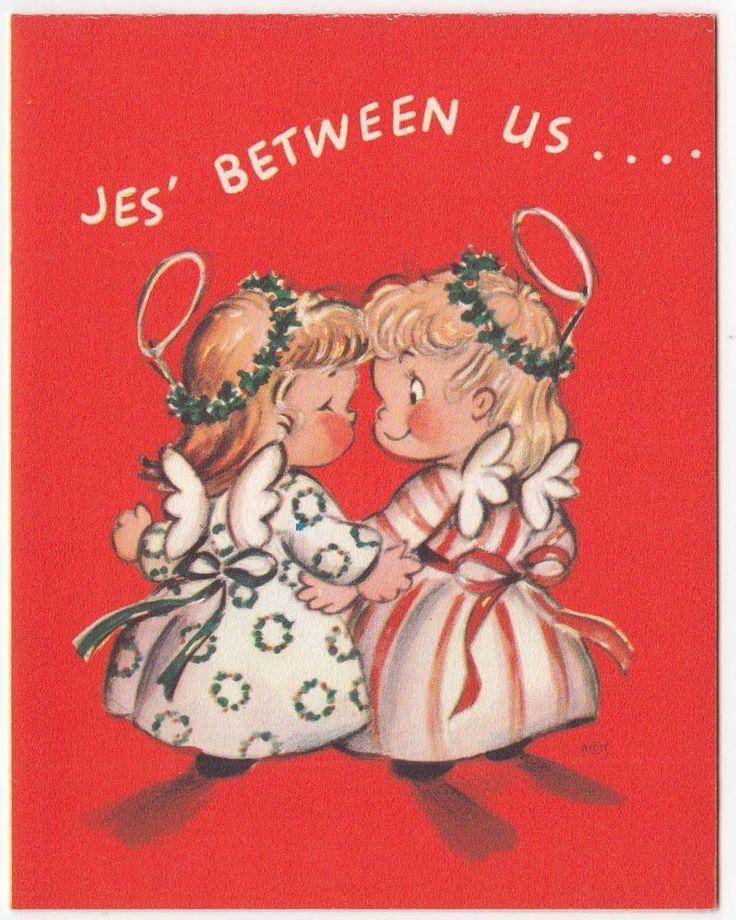 Details about UNUSED Vintage Greeting Card Christmas Angel