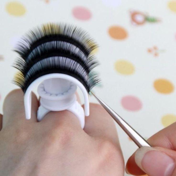 1 Pcs Eyelash Strip Pallet Ring Eyelash Extension Glue Ring Adhesive Holder -- BuyinCoins.com