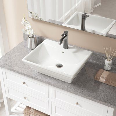 MRDirect Rectangular Vessel Bathroom Sink with Overflow Sink Finish