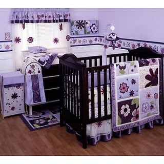 Love purple baby girl rooms...... Not that we r ready yet or anywhere close but I want this
