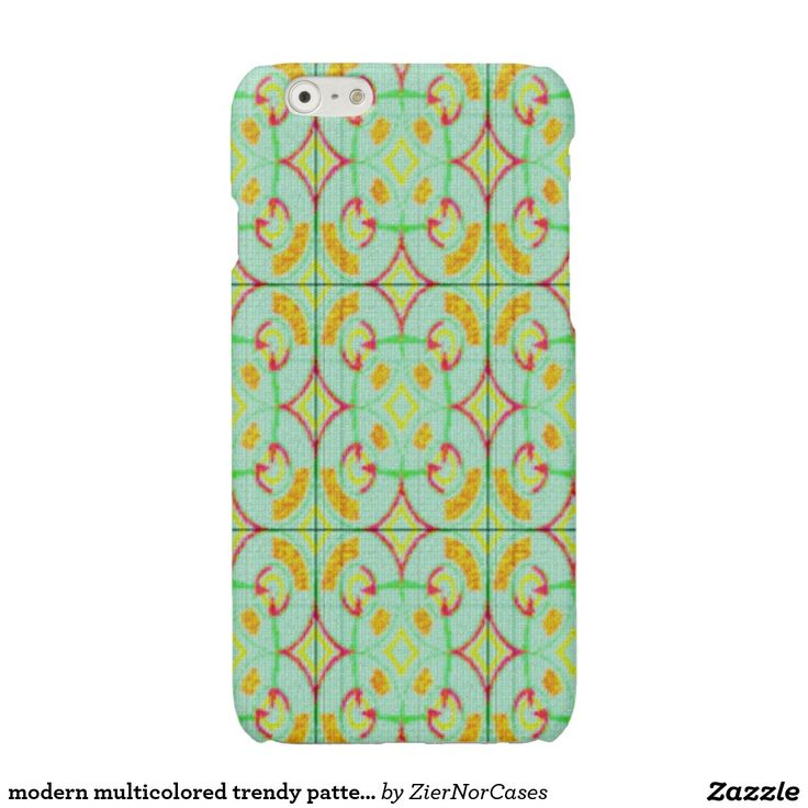 modern multicolored trendy pattern glossy iPhone 6 case
