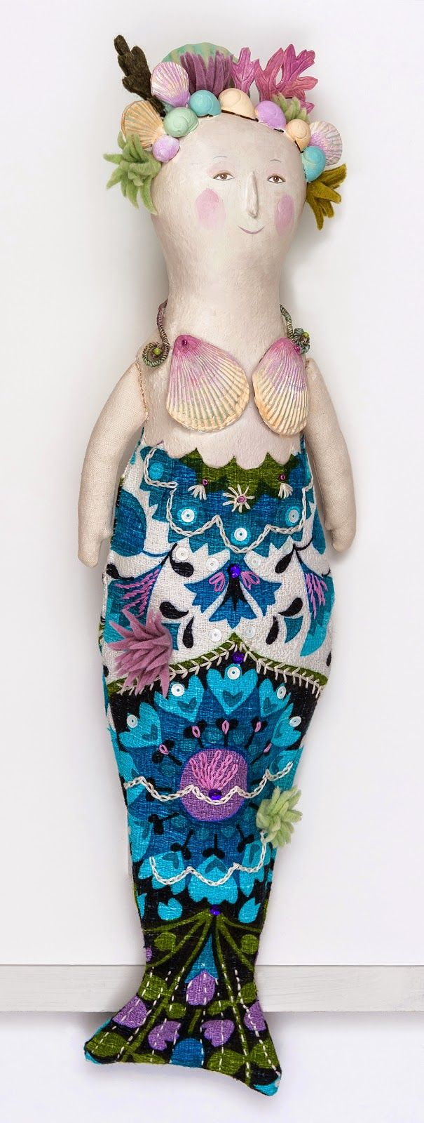 'Mermaid' doll by Sarah Young for Yorkshire Sculpture Park showcase