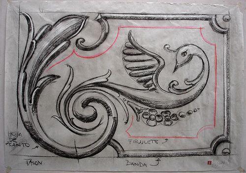 https://flic.kr/p/77aRfa   BOCETO  CL 2   Boceto de clase de fileteado 50 x 70 cm Carbonilla sobre papel U$S 20.-  agfileteado@yahoo.com.ar