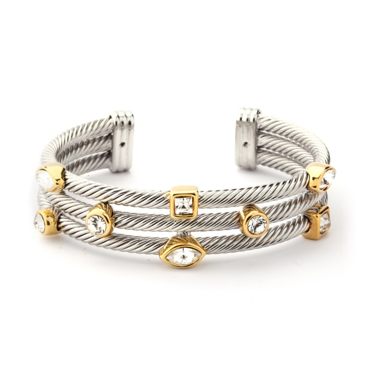 David Yurman inspired bracelet for only $34.99. Great as a statement piece! Visit premiumcz.com to purchase #DavidYurman #Designerinspired #CubicZirconia #CZbracelet #bracelet