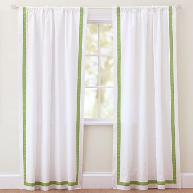 Curtain Idea For The Office Only With Navy Trim
