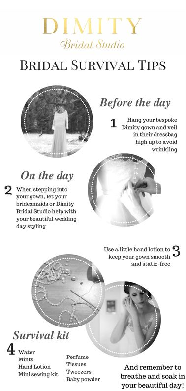 A few bridal survival tips for your special day!