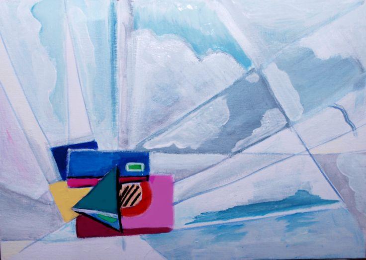"""Mirroring The Reality""  Acryl on Canvas  35x50 Author:GianniThe Artist"