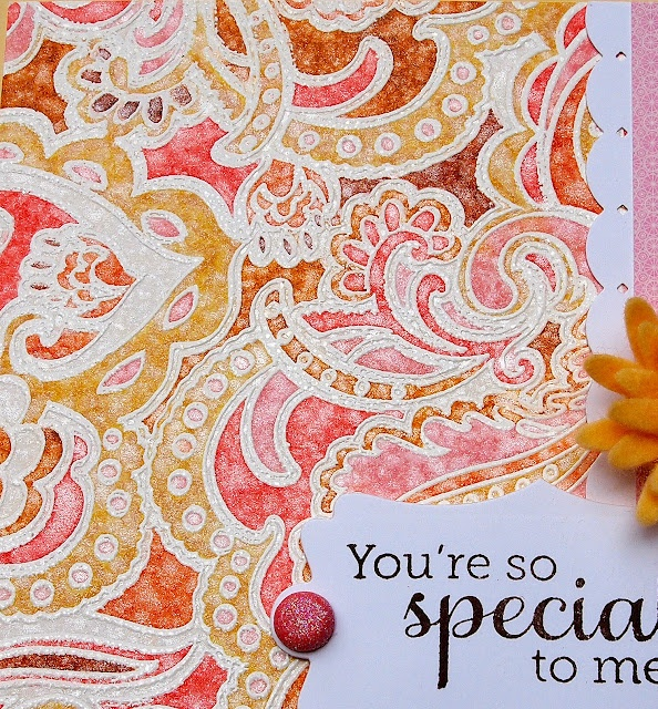 Emboss, Color, Perfect Pearls: Cards Ideas,  Hankey, Tracing Trismi, Color, Tracing Tried S Mi, Handkerchiefs,  Hankie,  Hanky, Perfect Pearls