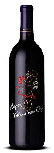 Happy Valentines Day Wine