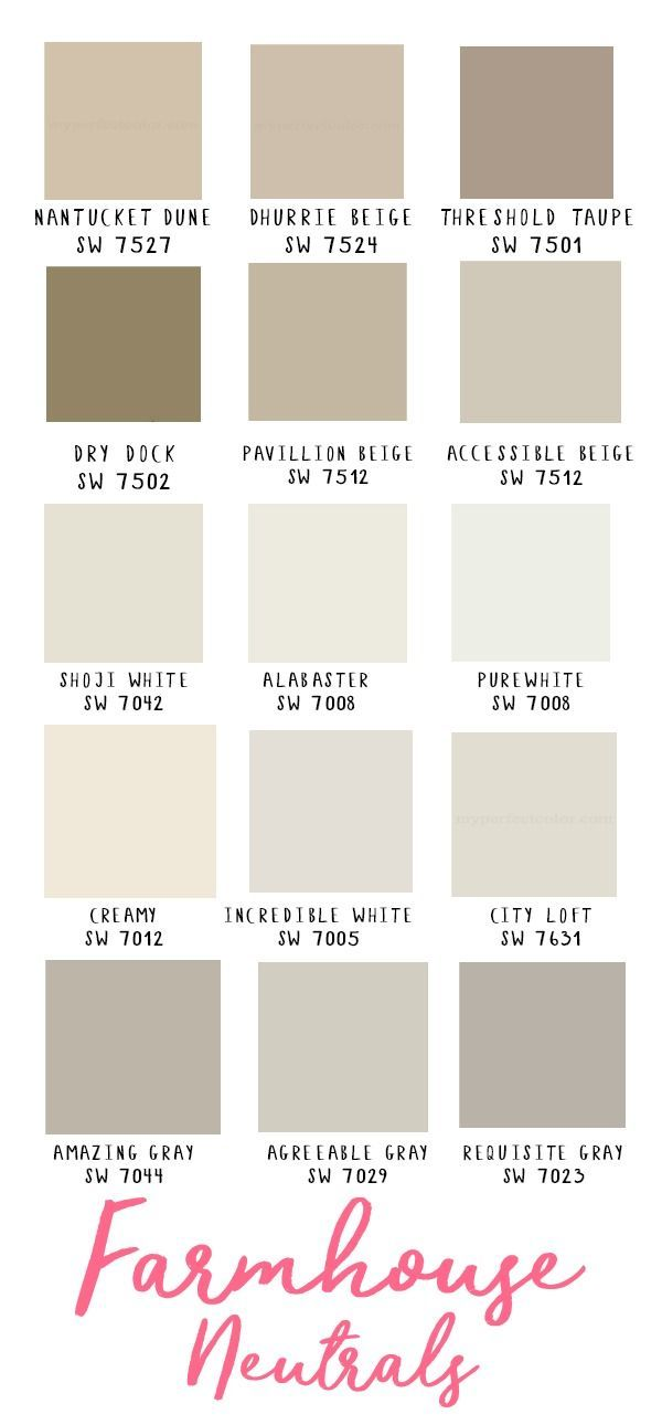 Farmhouse Neutrals Sherwin Williams Gray Beige White Paint Colors Wa Aussenwandfarbe Aussenfarben Wandfarbe Weiss