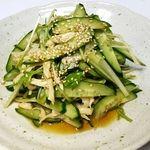 彭家 タッカンマリ - 料理写真:胡瓜の和えもの