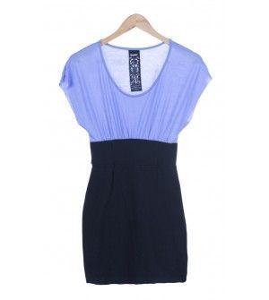 vestido bicolor