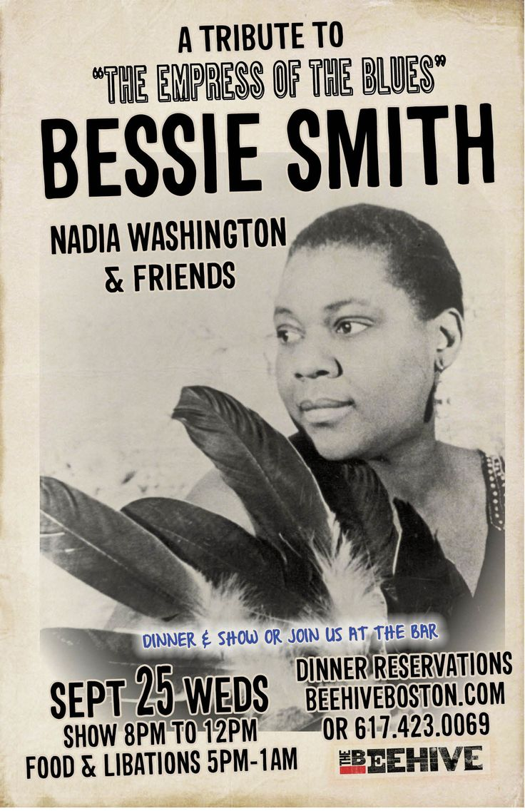 Bessie Smith. One of Evelynn's favorite singers (The Blackmail of Evelynn Faust)