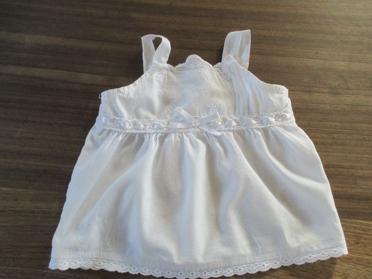Next baby girls vintage style white sun top age 3-6 months