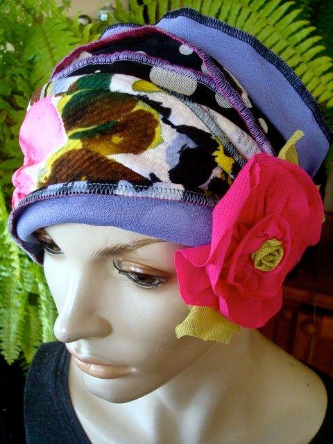 wide headband Womens Tichel Bohemian by GypsyLoveHeadbands on Etsy