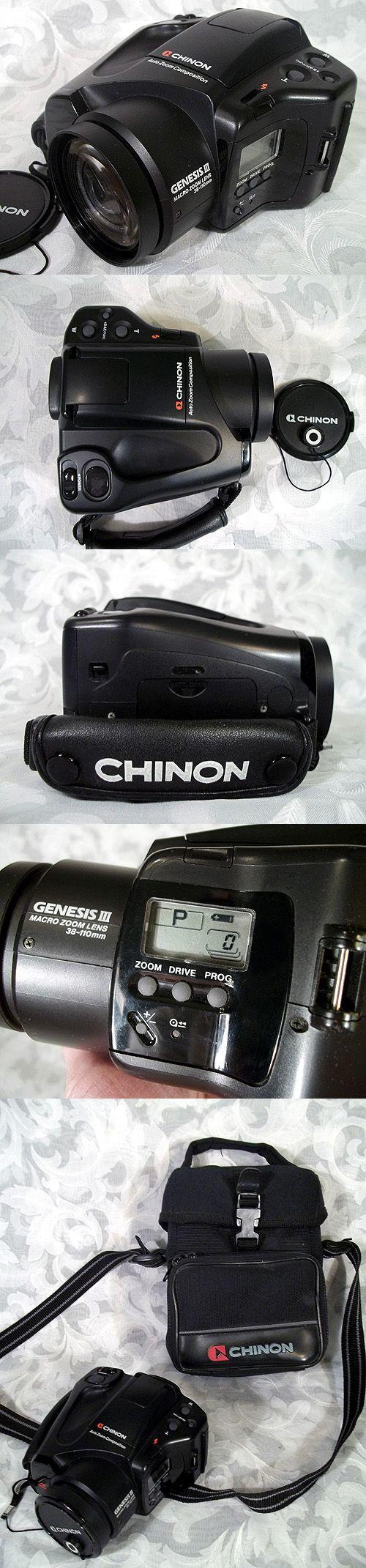 $120.00 or best offer Vintage 1980's CHINON GENESIS III SLR Camera Made in Japan w Original Case