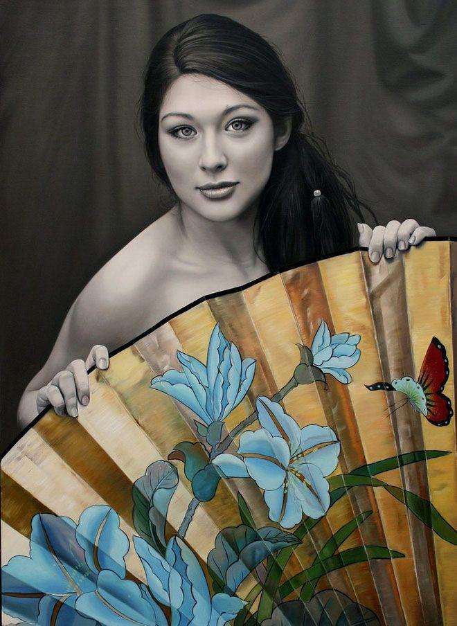 Christiane Vleugels (Raipun on DeviantArt)   OIL   Golden Fan
