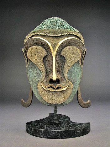 Bronze Buddha Mask