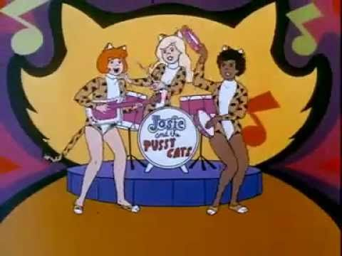 "The opening of one of my favorite CBS Saturday morning cartoons, ""Josie and the Pussycats"" (1970)"