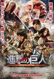 Attack on Titan, the Movie: Part 1 - A live action adaptation of the dystopian manga series Attack on Titan. (Dick Smith Library, AV-DVD PN1997.2 .A734 2016)