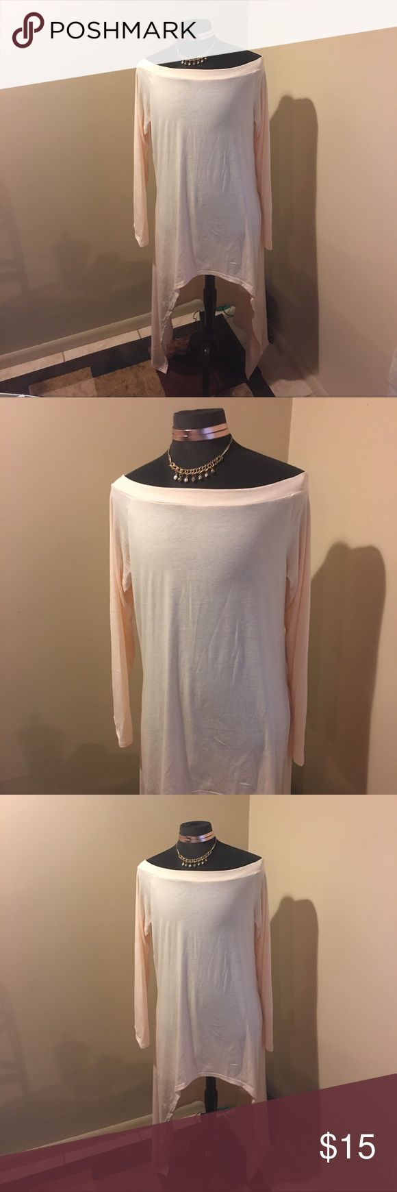 Sexy! Fashion Trend! Off The Shoulder, Maxi Shirt Sexy, off white, off The Shoulder, Maxi shirt with Shark bite sides Tops