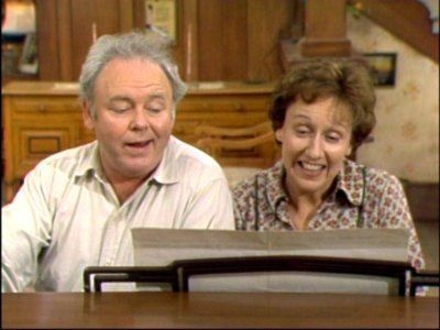 "Carroll O'Connor and Jean Stapleton in ""All in the Family"". Those were the days!"