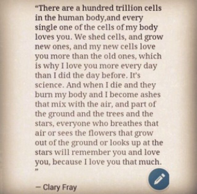 Clary Fray talking to Jace. quote. The Mortal Instruments. City of Heavenly Fire. Clace.