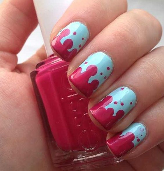 53 Best Dripping Paint Nail Art Images On Pinterest