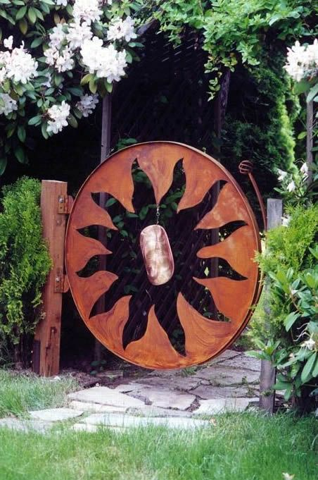 Phil Beck Metal Art  Copper Sun Gate
