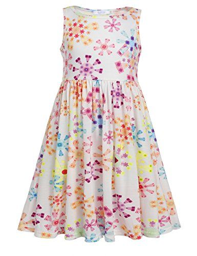 a5991a1ac Arshiner Little Girls A Line Swing Dress Casual Style Rainbow Dots ...