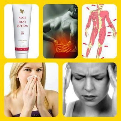 ALOE HEAT LOTION LOTION is an excellent product to use on aching muscles, sprains, or rub a little on your chest if you have a rotten cold. MUST HAVE product for your medicine cabinet! Http://www.foreveraloekay.com