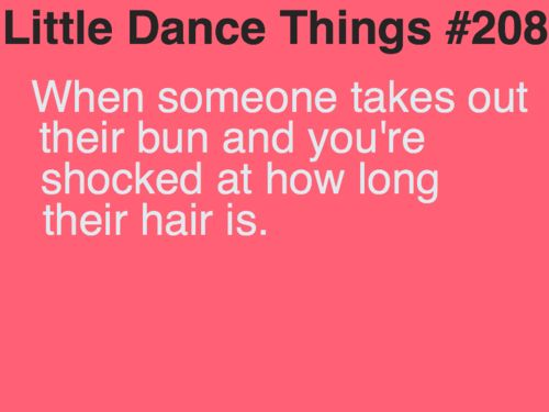 Little Dance Things - except for me it's always the other way around! lol