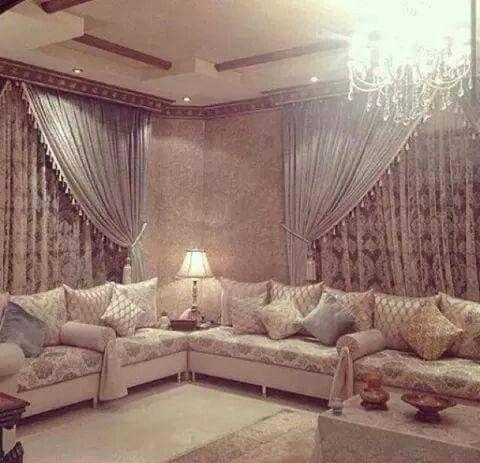 Salon marocain | maison | Salon marocain, Table salon marocain et ...