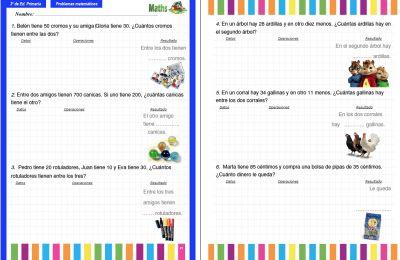 Recopilatorio: Problemas para 3º de Primaria Interactivos ideales para PDI y PDF | El Rincón De Aprender
